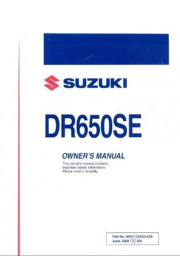 Пользовательский и сервисный мануалы на Suzuki DR-650SE 06-09 г.